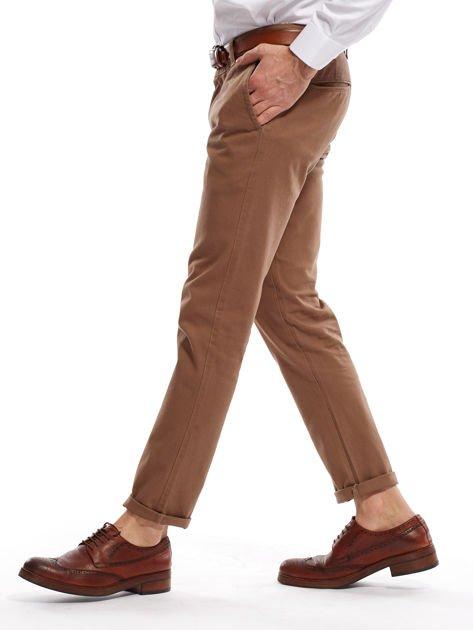 Beżowe spodnie męskie chinos                              zdj.                              13