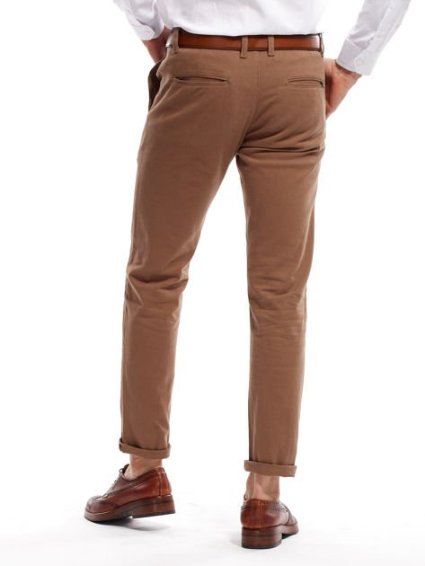 Beżowe spodnie męskie chinos                                  zdj.                                  2