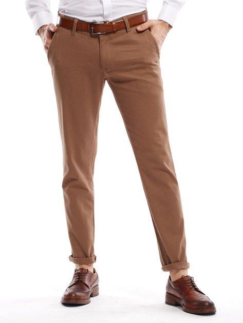Beżowe spodnie męskie chinos                                  zdj.                                  1