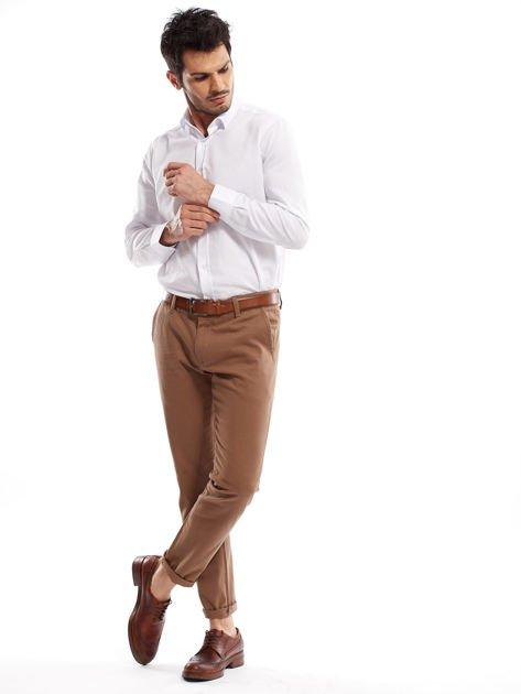 Beżowe spodnie męskie chinos                              zdj.                              10