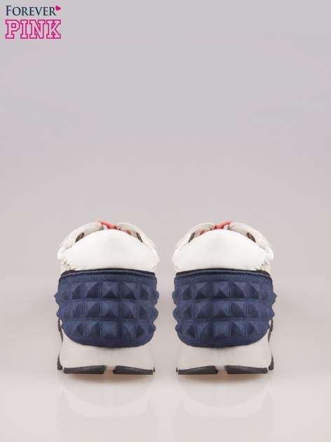 Beżowoniebieskie buty sportowe Dragon z siateczką na wysokiej podeszwie                                  zdj.                                  3