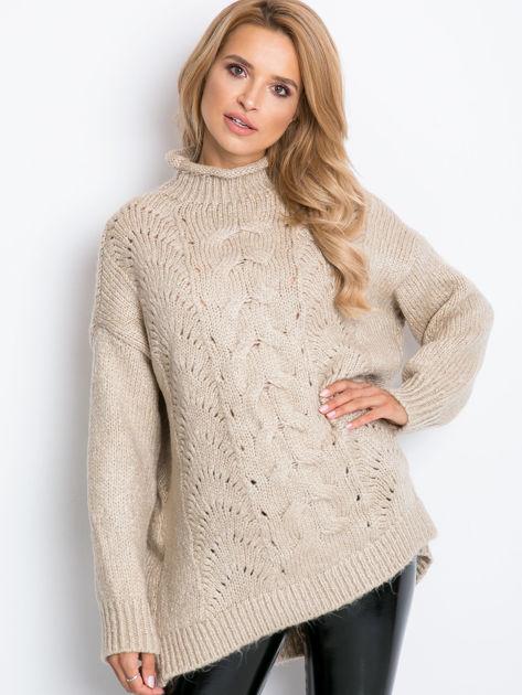 Beżowy sweter plus size Bridge                              zdj.                              11