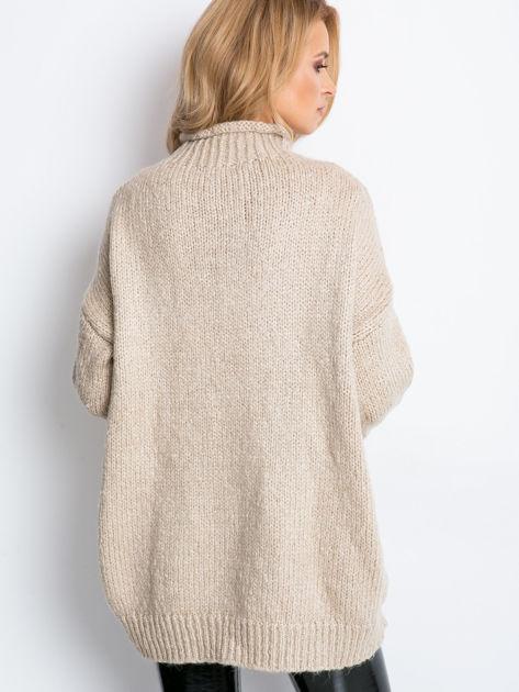 Beżowy sweter plus size Bridge                              zdj.                              9