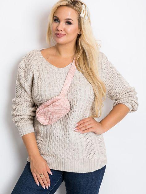 Beżowy sweter plus size Tango                              zdj.                              1