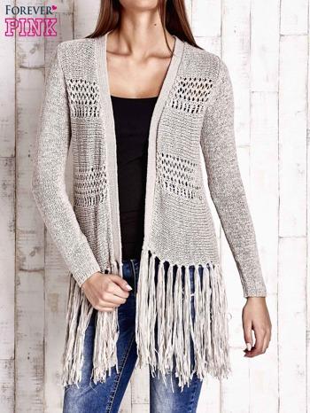 Beżowy sweter w stylu boho                                  zdj.                                  1