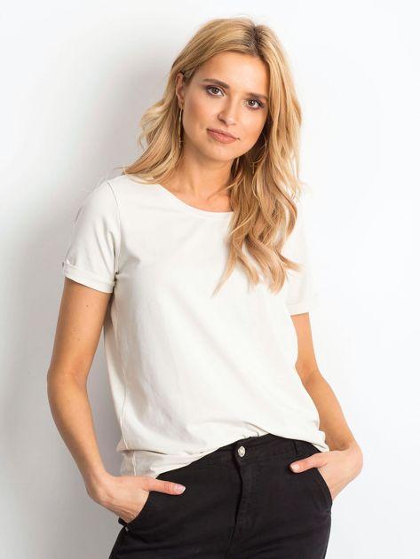 Beżowy t-shirt Transformative