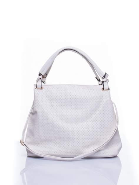 Biała ażurowa torba na ramię