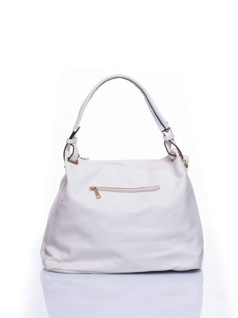 Biała ażurowa torba na ramię                                  zdj.                                  2