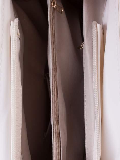 Biała ażurowa torba na ramię                                  zdj.                                  4