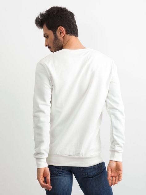 Biała bawełniana bluza męska                              zdj.                              2