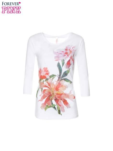 Biała bawełniana bluzka z motywem kwiatowym                                  zdj.                                  5