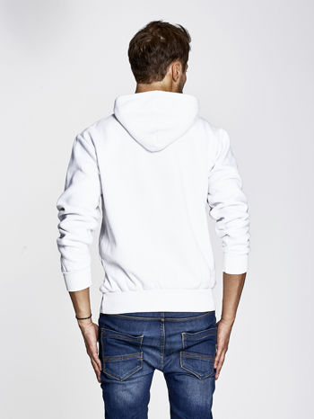 Biała bluza męska z nowojorskim nadrukiem                                   zdj.                                  4