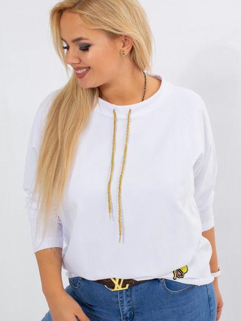 Biała bluza plus size Vacay                              zdj.                              5