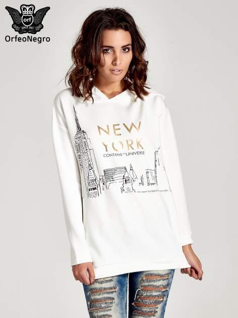 Biała bluza z nadrukiem NEW YORK                                  zdj.                                  1