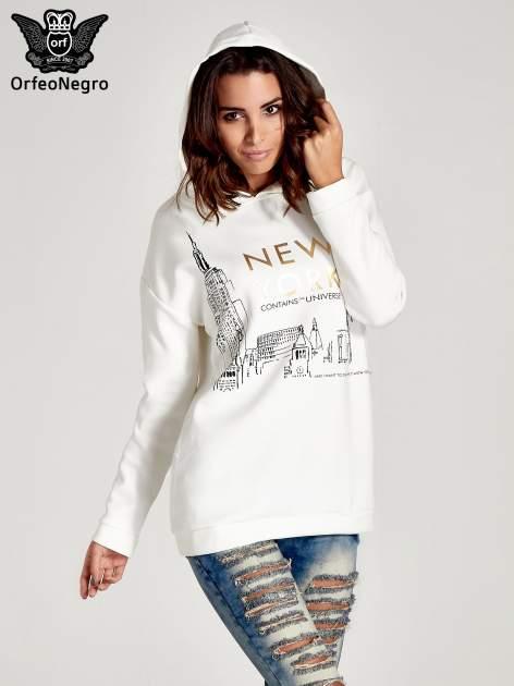 Biała bluza z nadrukiem NEW YORK                                  zdj.                                  6