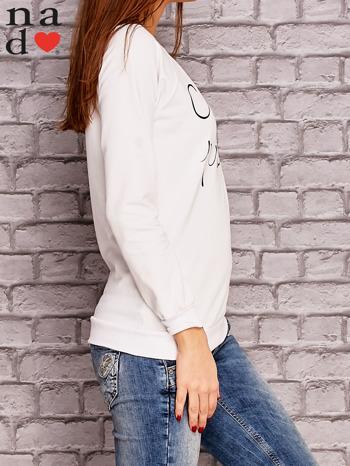 Biała bluza z napisem CHCĘ PSOCIĆ                              zdj.                              3