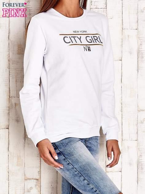 Biała bluza z napisem CITY GIRL                                  zdj.                                  3