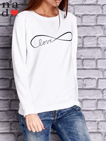 Biała bluza z napisem LOVE                                  zdj.                                  1