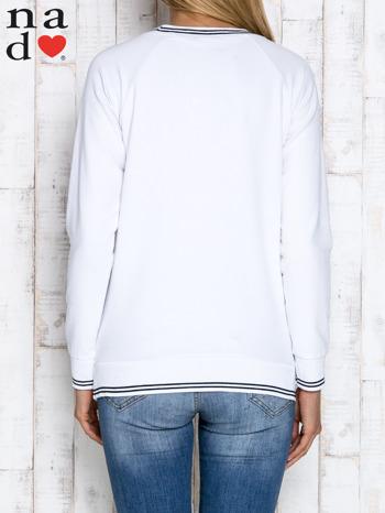 Biała bluza z napisem SIEMA                                  zdj.                                  4
