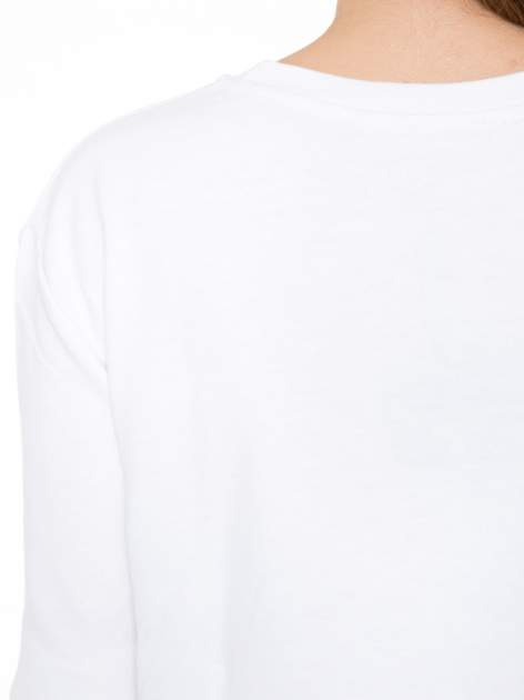 Biała bluza z narukiem AIN'T LAURENT WITHOUT YVES                                  zdj.                                  7