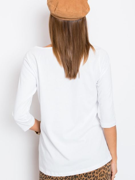 Biała bluzka Purr                              zdj.                              2