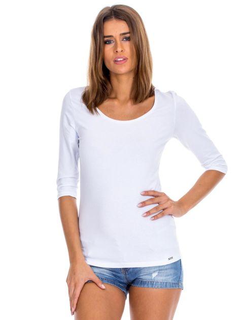 Biała bluzka damska basic                              zdj.                              1