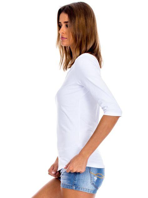 Biała bluzka damska basic                              zdj.                              3