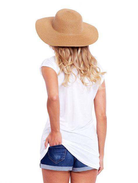 Biała bluzka damska z ażurowaniem na rękawach                              zdj.                              2