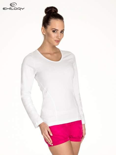 Biała bluzka sportowa basic PLUS SIZE                                  zdj.                                  3
