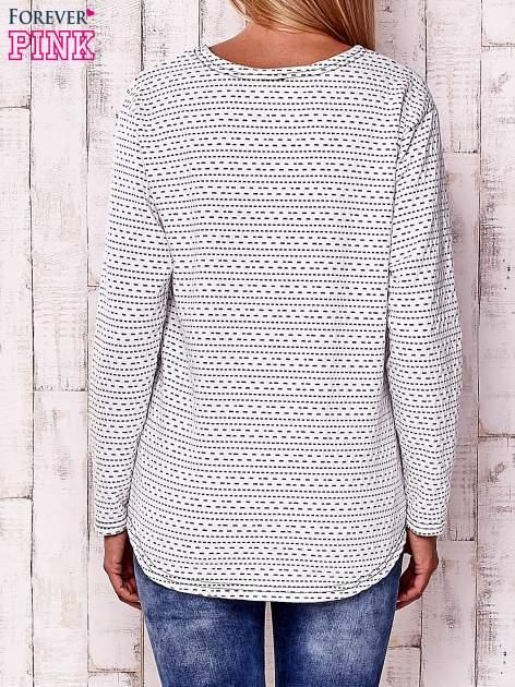 Biała bluzka w drobne wzorki                                  zdj.                                  4