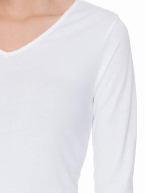 Biała bluzka z długim rękawem z bawełny                                  zdj.                                  5
