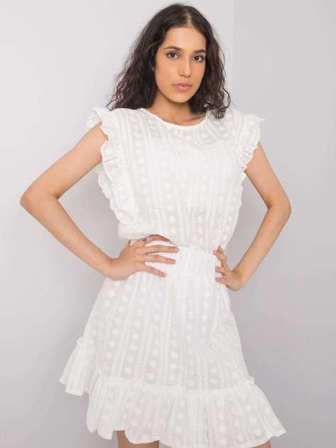 Biała bluzka z haftem Tacyana