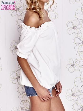 Biała bluzka z hiszpańskim dekoltem                                   zdj.                                  4