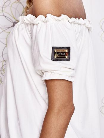 Biała bluzka z hiszpańskim dekoltem                                   zdj.                                  6
