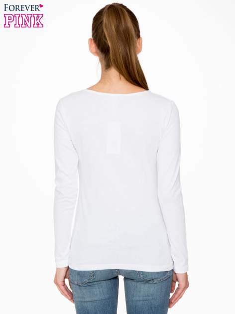 Biała bluzka z nadrukiem Audrey Hepburn                                  zdj.                                  4