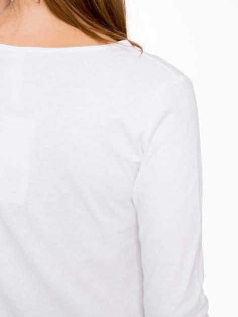 Biała bluzka z nadrukiem Audrey Hepburn                                  zdj.                                  8