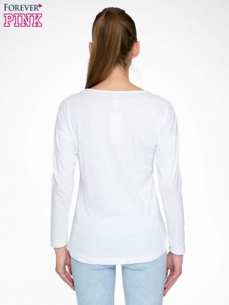 Biała bluzka z napisem MAKE IDEAS HAPPEN                                  zdj.                                  4