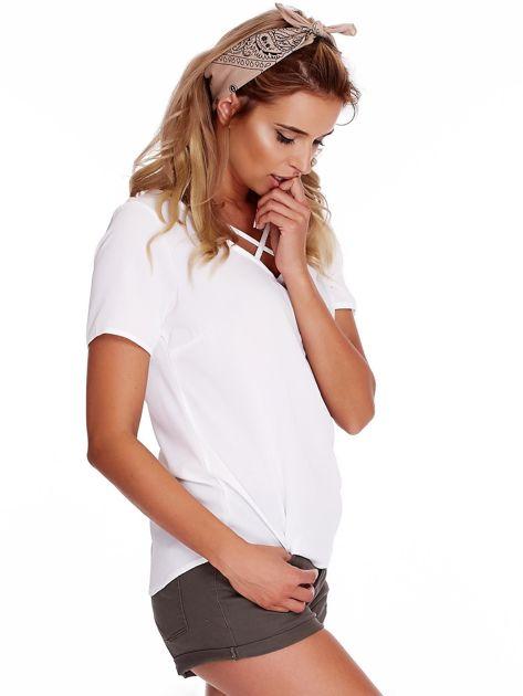 Biała bluzka z paseczkami                              zdj.                              3