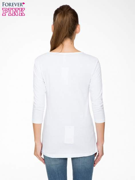 Biała bluzka z portretem Audrey Hepburn                                  zdj.                                  4