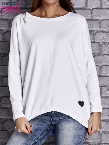Biała bluzka z rękawem nietoperz                                  zdj.                                  1