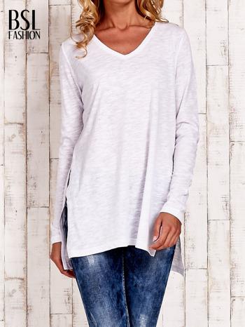 Biała bluzka z rozporkami z boku