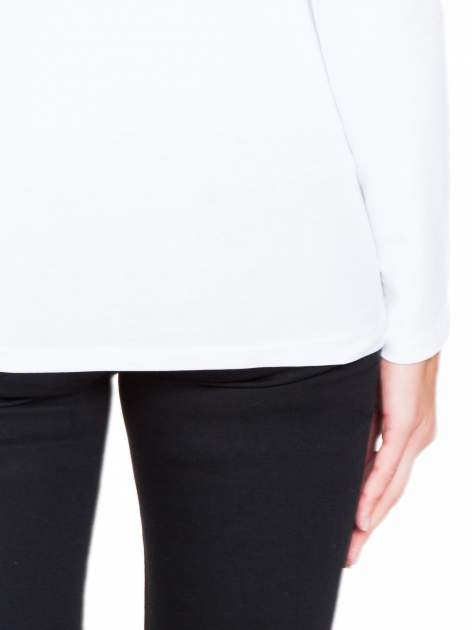 Biała bluzka z tiulowym karczkiem                                  zdj.                                  8