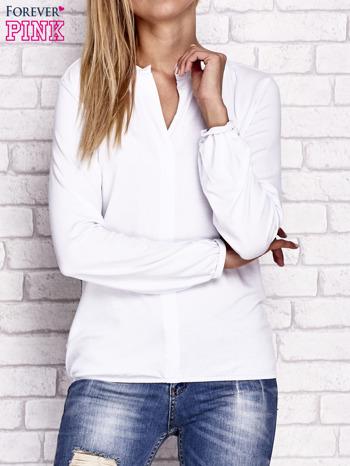 Biała bluzka ze ściągaczem na dole                                  zdj.                                  1