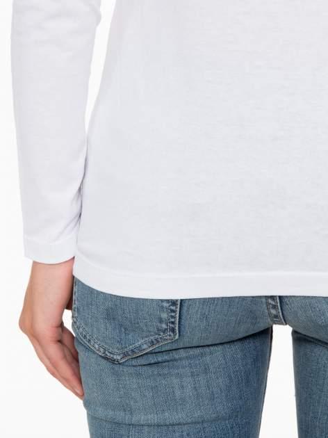 Biała bluzka ze złotym brokatowym napisem ROCK AND ROLL                                  zdj.                                  10