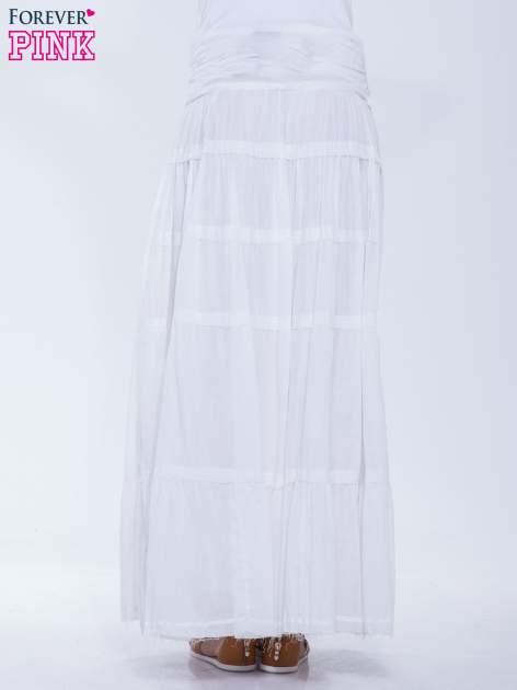 Biała długa spódnica maxi w stylu boho                                  zdj.                                  4