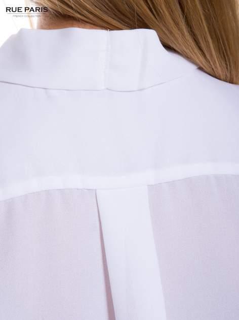 Biała elegancka koszula z kopertowym dekoltem                                  zdj.                                  5