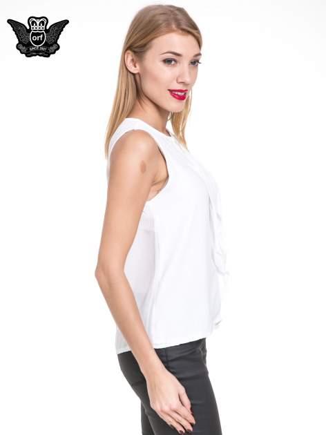 Biała elegancka koszula z żabotem                                  zdj.                                  3