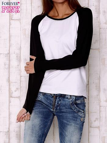 Biała gładka bluza
