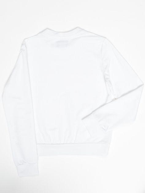 Biała bluza młodzieżowa                              zdj.                              2