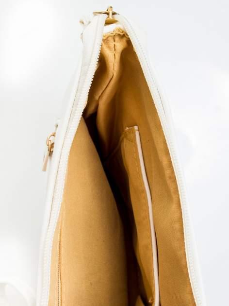 Biała kopertówka z dżetami motyw ust                                  zdj.                                  8